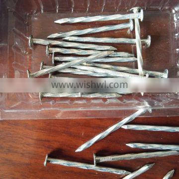 Factory supplies roofing nails with spriral thread /annular/screw shank 12d