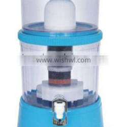 New design 14L mineral water pot / 7 stage filter table top filter