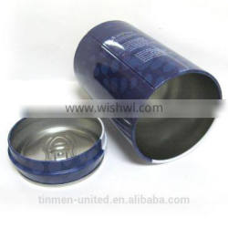 Hot sale ring-pull can style dark blue watch tin can