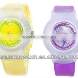 2013 candy color plastic strap cheap custom vogue ladies jelly watch