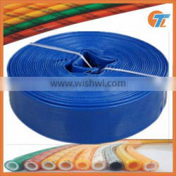 lay flat hose blue water supply flexible cold water pipe