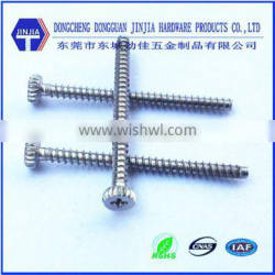 thread forming phillips cheese head screw 2mm knurled screws sus304