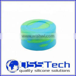 High quality 7ml customized small storage jars for sauces/ oil dab wax container/ silicone wax and oil container