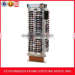3 sides sunglass display stand with customized logo