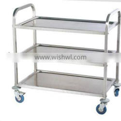 PRD-L3 Stainless steel dining cart (dining trolley, service trolley)