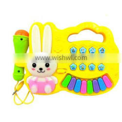 Plastic Kid Small Musical Instrument Toy Electronic Organ Toys with Microphone