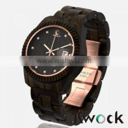 Good news black wooden watch sold in a cheap price made in natural wood