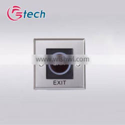 No touch access control emergency button