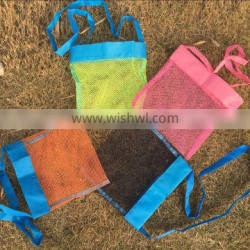Wholesale Baby girl and boys mesh shell bags kids beach bags