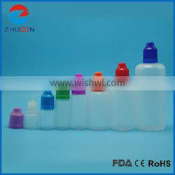 China manufacturer hot-selling long thin tip empty e-liquid vape bottles with child proof dropper