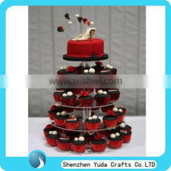 beautiful acrylic cake display stand rack holder manufacture price for wedding