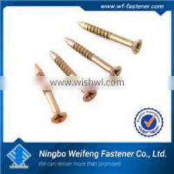 Black/white/yellow zinc galvanized square pan head self drilling screw,good quality ningbo fastener manufacturers