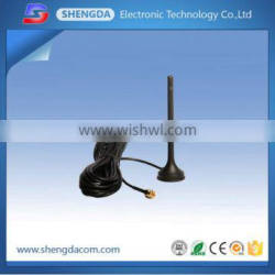 800/900/1800/1900/2100MHz GSM /CDMA quad-band magnetic antenna with SMA-male connector and RG-174 cable