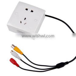 3.7mm white light hidden wall socket camera