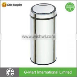 Open Top1 Home Eco-Friendly Auto Sensor Outdoor Waste Bin Silver, Black,White or Customized