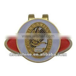 magnet golf hat clips with ball marker