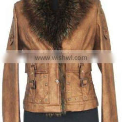 Womens clothing supplier- washed PU jackets