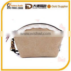 High Quality 16OZ Canvas Lady Makeup Bag Small Clutch Bag