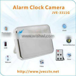 JVE-3311G New Design Digital Clock Camera with Remote Control, mirror table clock with motion detection and voice tell time