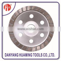 factory high quality power tool diamond continuous turbo cup grinding wheel for concrete and stones