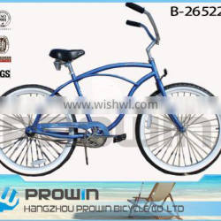 Classic Singple Black Beach cruiser bicycle/ cruiser bike,china supplier/ Direct Factory Price Trade Assurance(PW-B26522)
