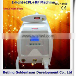2013 New style E-light+IPL+RF machine www.golden-laser.org/ hair removal roller