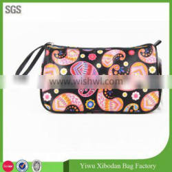 Wholesale printed polyster cosmetic bag with zipper