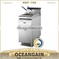 HGF-70A 1-tank 2-basket gas fryer with cabinet