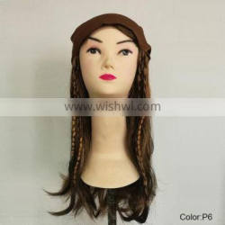 Carnival pirate brown party wigs MW-009