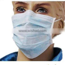 Medical disposable nonwoven face mask with earloop / tiers with 3ply (Nonwoven face mask-G)