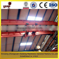 Factory surply drawing customized 10 ton overhead crane with electric hoist used Indoor or outdoor