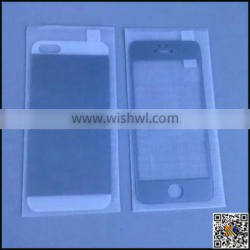 Full body colorful tempered glass protective film for Iphone 5G, smart glass film