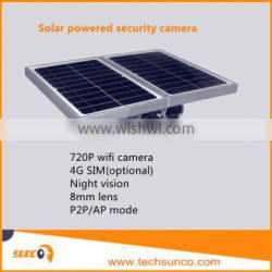 Hot sale Waterproof solar powered WIFI security camera