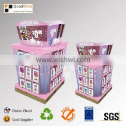 Cardboard Book Display Stands Portable Library Book Shelves