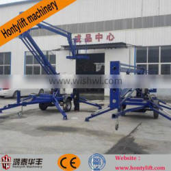 CE 16 M 200kg aerial working trailer mounted boom lift