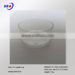 HRX-PC 6 WHITE CANDLE CONTAINER OF CHINA