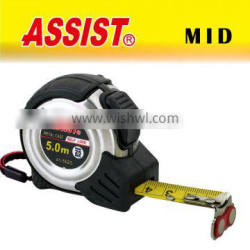 Most popular series rubber case measure tape 5m auto-lock stop stainless steel tape measure