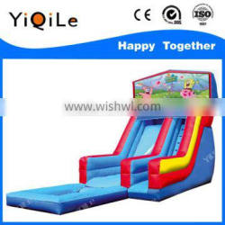 The sponge theme of inflatable water slide with inflatable pool