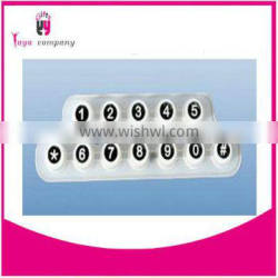 Silicone button Factory customized silicone rubber keypad