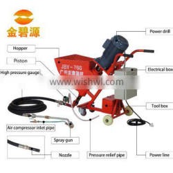 Large scale cement mortar spraying machine for larger cement particles