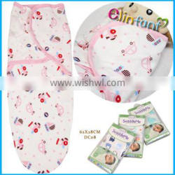 100% cotton brethable printed baby swaddleme