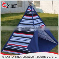 Customized logo tent house indian tent pop up wooden kids teepee