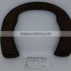 Elegent and Brilliant color wooden handle for ladys bag