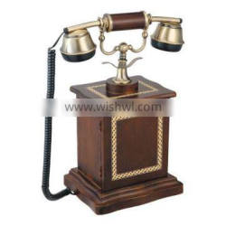 Fancy Design Wood Craft Vintage Home Decorative Telephone Set Made In China