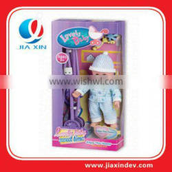 13 inch toy doll with cart and IC for kids