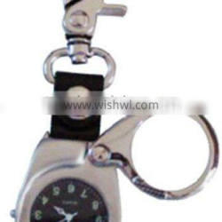Carabiner clip watch with compass