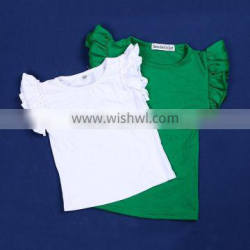 100% Cotton Baby Shirt With Bubble Sleeve QL-6