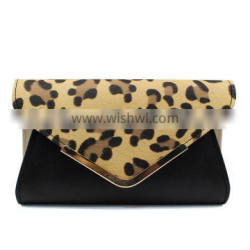 Fashion leopard PU patch ladies' evening clutch bag