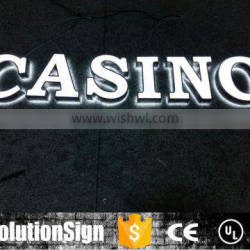 Waterproof outdoor 3d acrylic letter sign for bsuiness