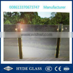 4mm clear +0.38PVB+4mm clear tempered laminated balustrade railing glass